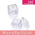 square transparent plastic cosmetic packaging loose powder